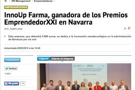 Winner of Entrepeneur XXI Navarra award